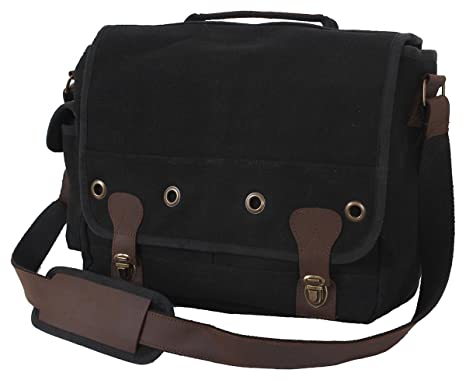 Amazon.com  Rothco Canvas Trailblazer Laptop Leather Bag 4452ce30eb6