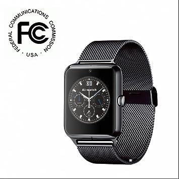 Reloj Inteligente Smartwatch con Fitness Tracker Sincronización,Análisis de Sueño Recordatorio Inteligente con tador de