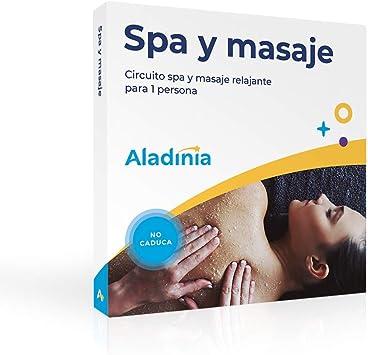 ALADINIA Box Caja Regalo Pack de SPA y Masaje para 1 Persona con Validez Ilimitada | Más de 50 Opciones para Elegir en España: Amazon.es: Deportes y aire libre