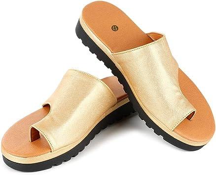 WMFL Attelles d'oignon,Chaussures de Sandale à Plateforme Confortables pour Femmes avec Fonction de correcteur d'oignon,Chaussures à Semelles