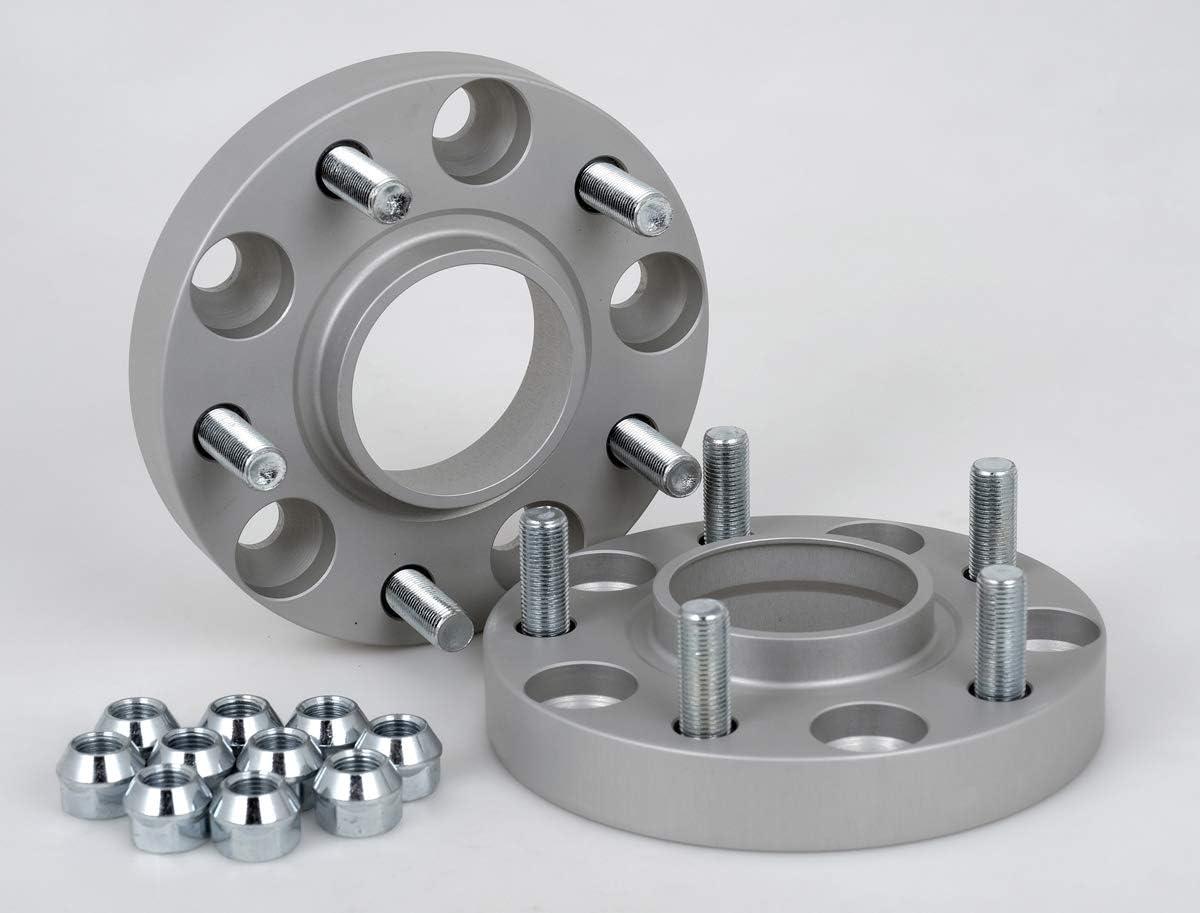 inkl 20 mm pro Scheibe // 40 mm pro Achse Spurverbreiterung Aluminium 2 St/ück T/ÜV-Teilegutachten