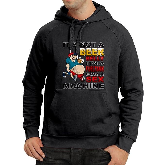 lepni.me Sudadera con Capucha para Los Amantes de La Cerveza - Barriga de Cerveza Divertida - Diseño Humorístico: Amazon.es: Ropa y accesorios