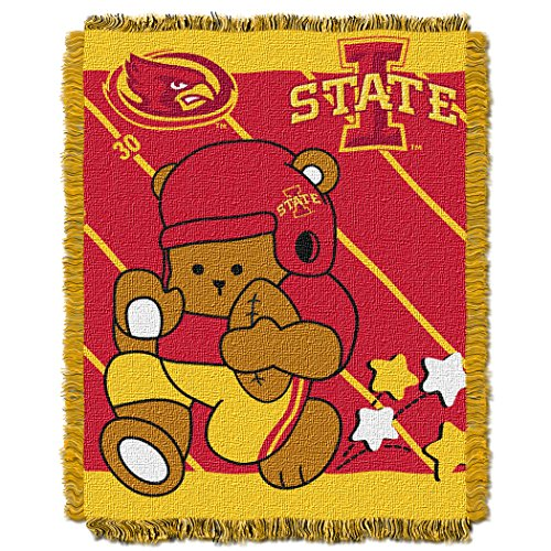 The Northwest Company Officially Licensed NCAA Iowa State Cyclones Fullback Woven Jacquard Baby Throw Blanket, 36