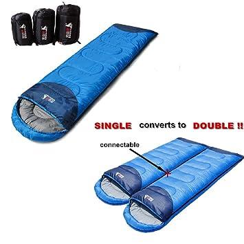 Spliced Envelope saco de dormir solo/par sacos de dormir Voyager Ultra Compact Lite Sleepingbag - -única conexión convierte a doble: Amazon.es: Deportes y ...