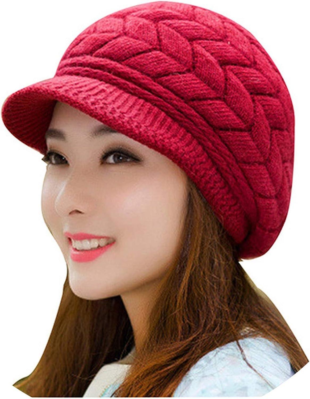 Hat Women Winter Knit...