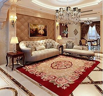 Amazon.de: L&Y Teppich Europäische Wohnzimmer roten Teppich ...
