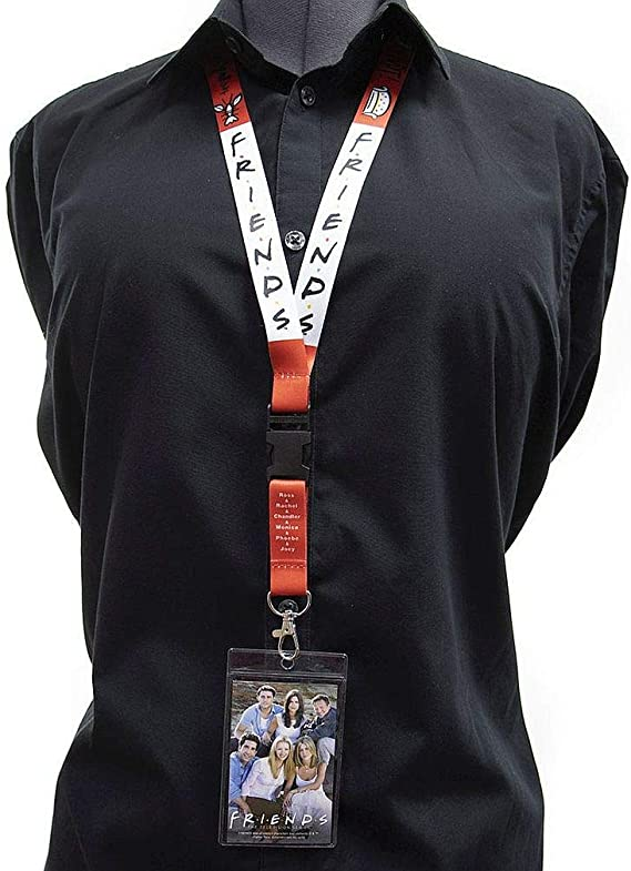 Ata-Boy Friends Reversible Lanyard with Breakaway Clip and ID Holder