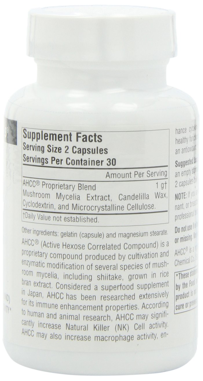 SOURCE NATURALS Ahcc Active Hexose Correlated Compound 500 Mg Capsule, 60 Count by Source Naturals (Image #5)