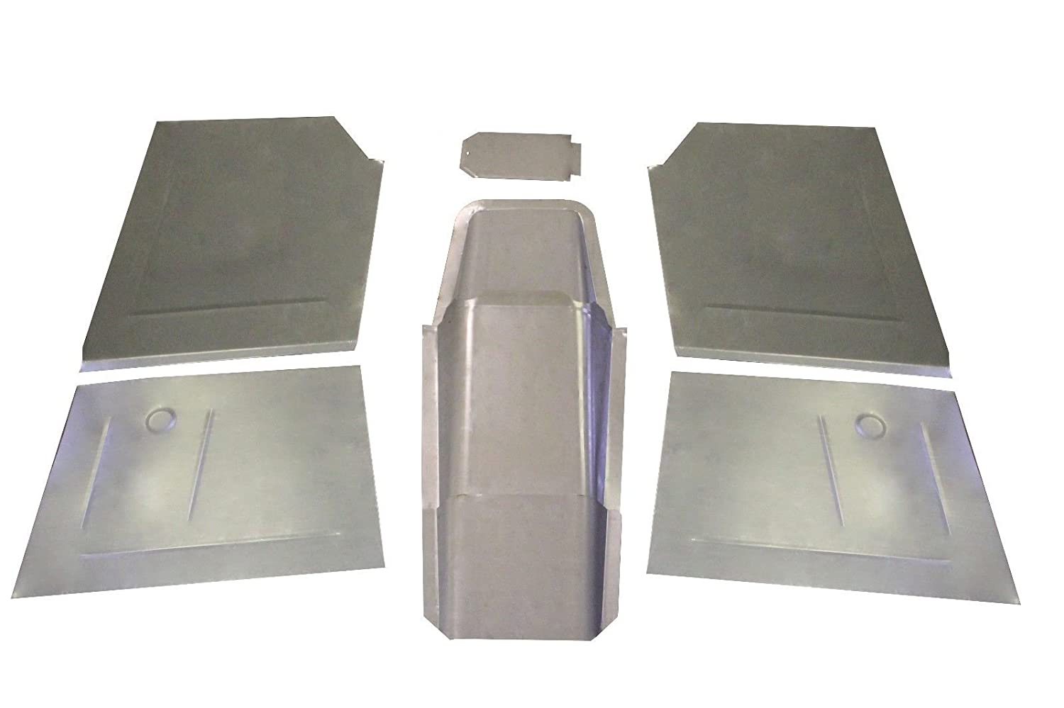 Motor City Sheet Metal Works With 1941-1948 CHEVY OLDSMOBILE PONTIAC Floor Pans,Toe Boards,Trans hump 8 PC KIT