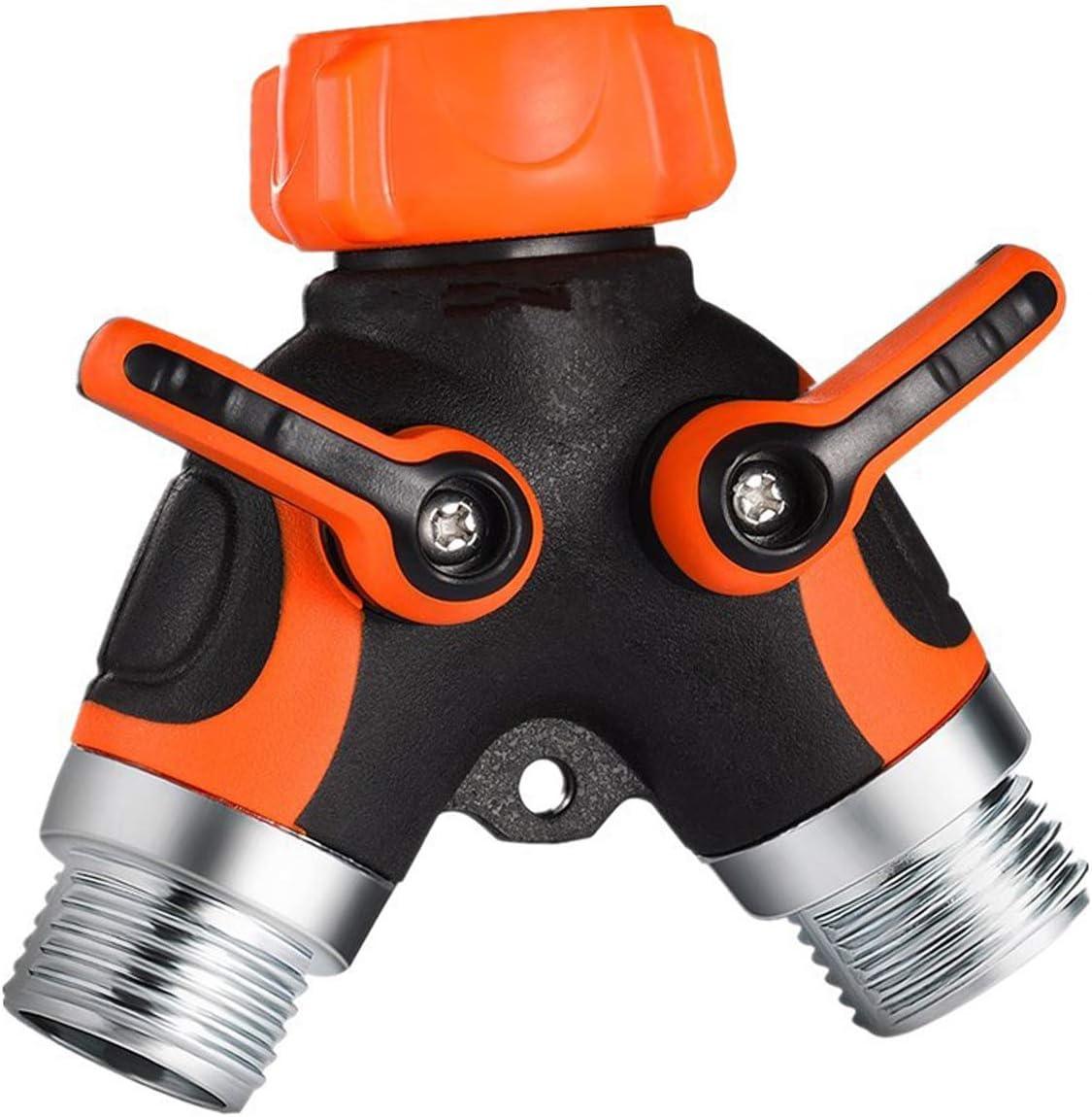 Gardguard Garden Hose Splitter - Y Hose Connector with Rubberized Grip, Easy to Open Valves Garden Hose Splitter, Easy Grip