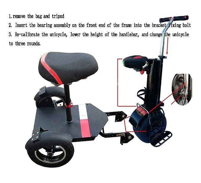 A&DW Scooter Eléctrico 2 En 1, Patinete Eléctrico para ...