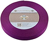 Country Brook Design | Purple Heavy Nylon Webbing (1 inch, 10 yards)