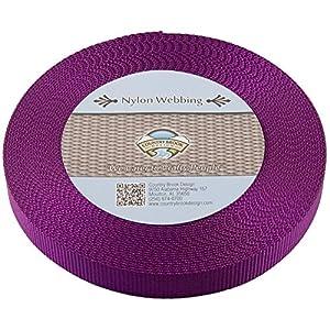 Country Brook Design | Nylon Webbing (Purple, 10 Yards, 5/8 Inch)