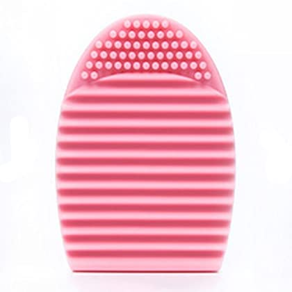 Cleaning MakeUp Washing Brush Silica Glove Scrubber Board Cosmetic Clean Tools (Pink) by Komocare