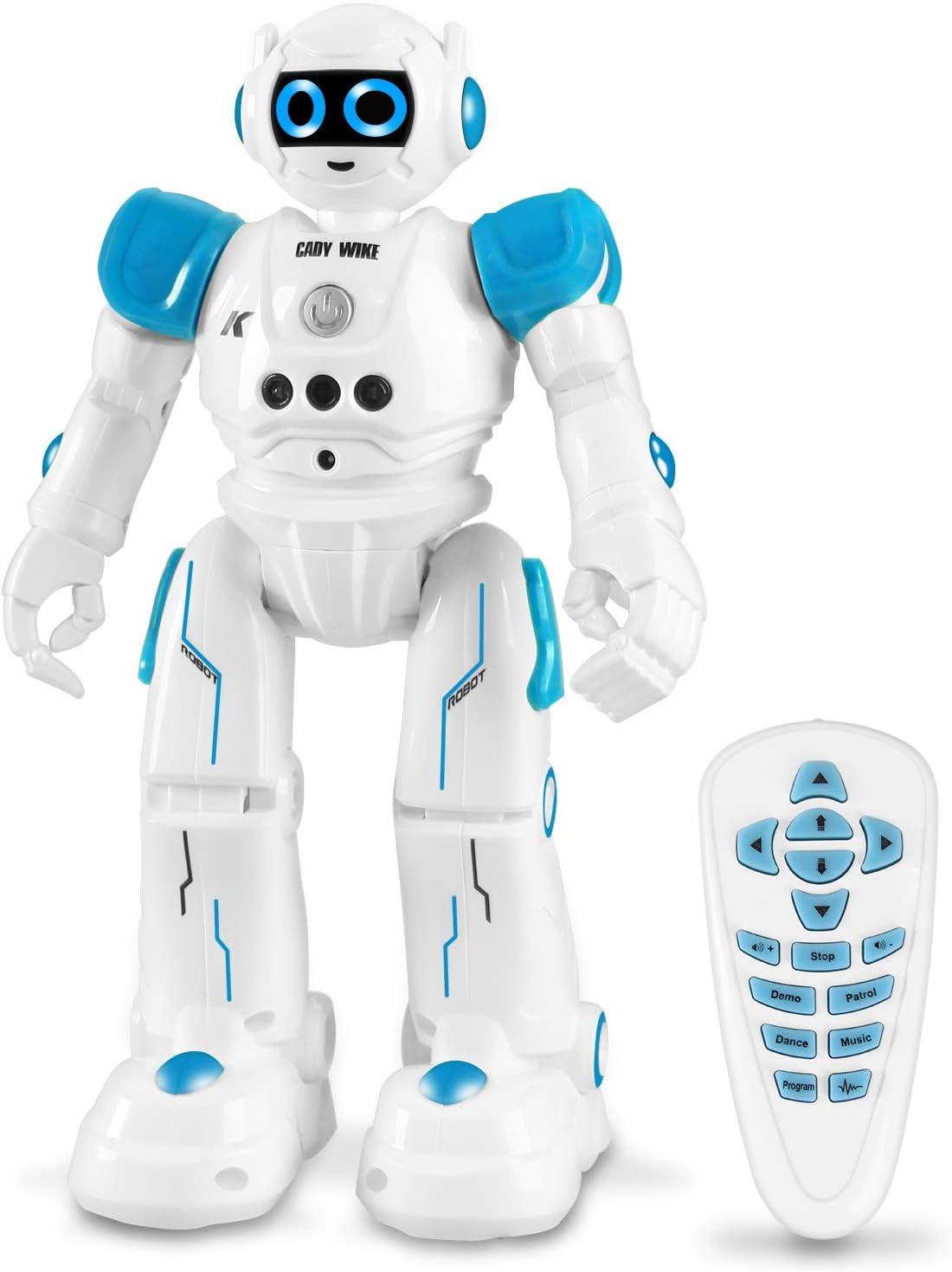 Robot de Juguete para Niños, Recargable Robots de Control Remoto para Niños de 3 a 7 Años, Inteligente Hablar (Solo en Inglés) Caminar Bailando Radiocontrol Robots de Codificación Regalo para Niños