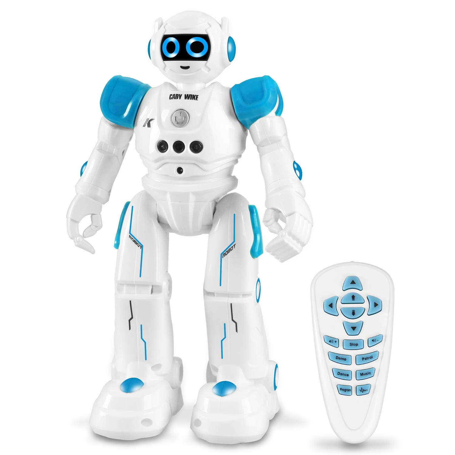 IHBUDS Robot Toy for Kids, Smart Robot Kit with Remote Control & Gesture Control, Perfect Robotics Gifts for Boys Girls Learning Programmable Walking Dancing Singing (Blue) by IHBUDS (Image #1)