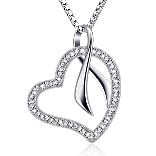 eecbf4849 Image Unavailable. Image not available for. Color: B.Catcher Heart Pendant  Necklace 925 Sterling Silver ...