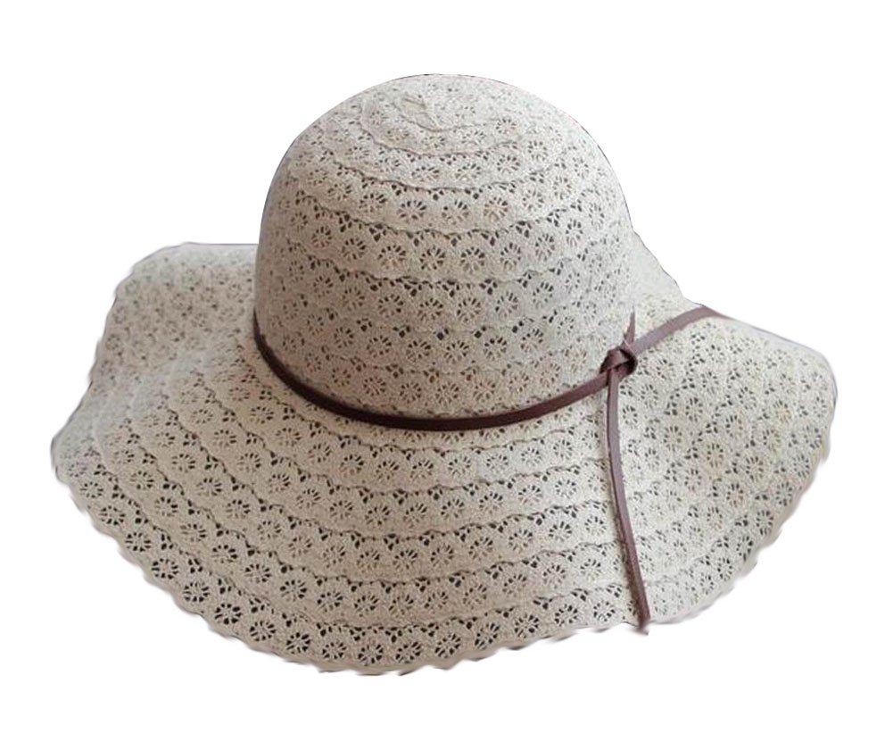 [Flower Beige] Lady Sun Hat Elegant Straw Hat Top Hat Dress Hat Beach Hat