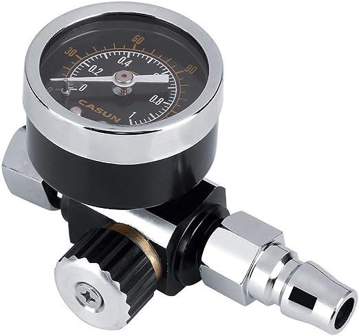 Regulador de presi/ón de aire 1//4 pulgadas BSP Man/ómetro usa para regular la presi/ón de la pistola de pintar