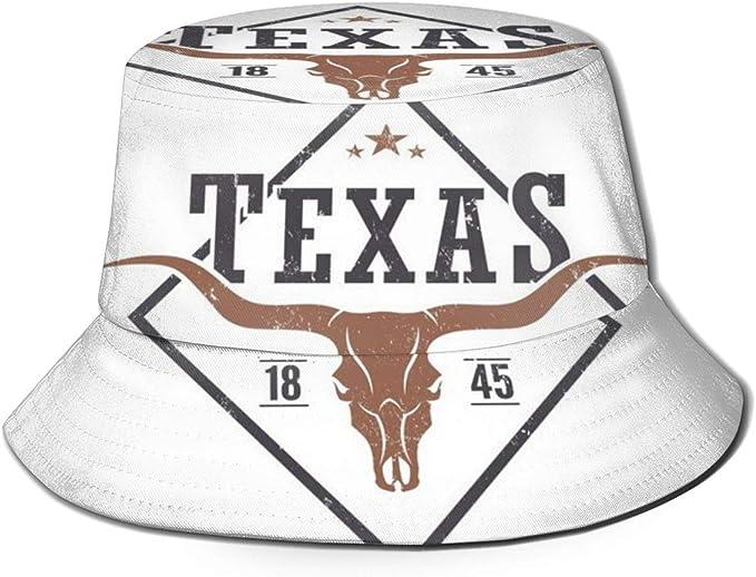 Funny Z Sombrero Unisexo con Forma de Cubo Estado de Texas ...