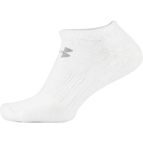 Under Armour Charged Cotton 2.0 NOSHOW Calcetines, Unisex Adulto, Blanco (100),