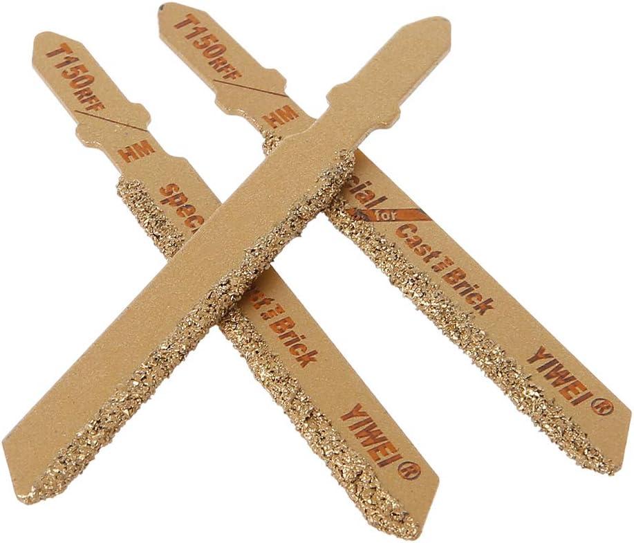 Yintiod herramienta de corte T150 grano de metal duro grano 50 Juego de 3 hojas de sierra de vaiv/én de 3
