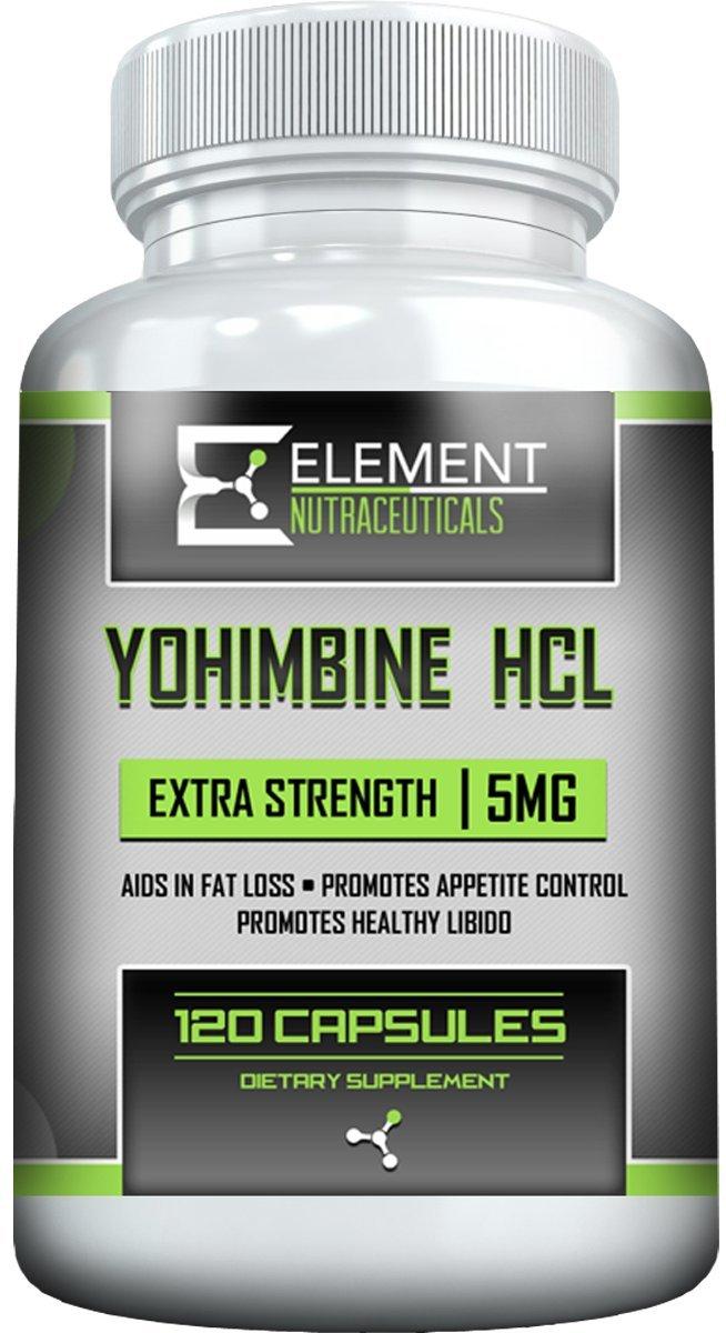 YOHIMBINE HCL (120ct x 5 mg) Extra Strength by Element Nutraceuticals by Element Nutraceuticals