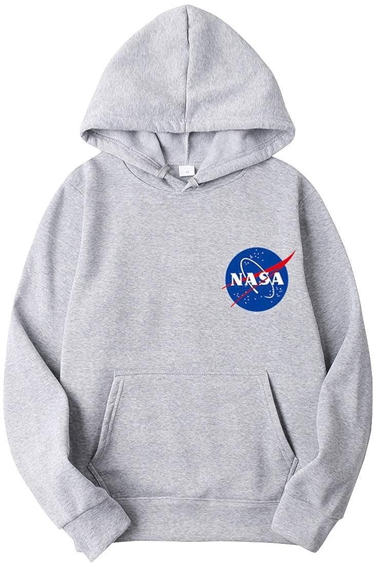 OLIPHEE Felpe con Cappuccio Colori Vivaci con Logo di NASA per Scuola per Ragazzi e Bambine
