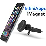 [Maker of iMagnet] Car Mount, Magnetic Mount infiniapps the Original Patented Slyde CD Slot Mount, Smartphone mount, iPhone X 8 7 Plus 6S 6 5s 5 SE, Galaxy S8 S7 S6 Edge, Note 8 5 4 and Mini Tablets