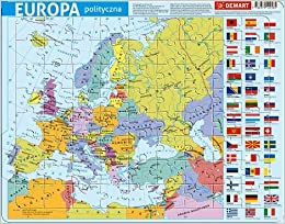 Puzzle Ramkowe 72 Elementy Mapa Polityczna Europy