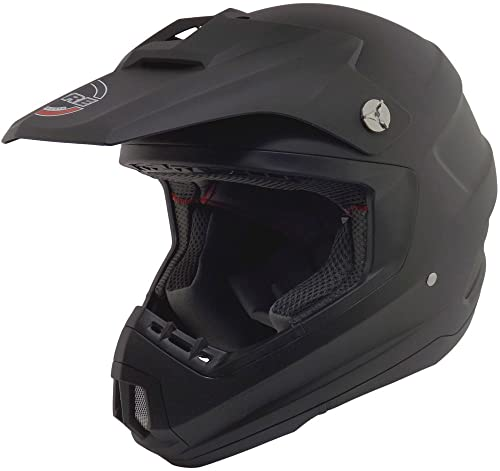 Core Helmets MX-1 Off-Road Helmet (Flat Black, Large)