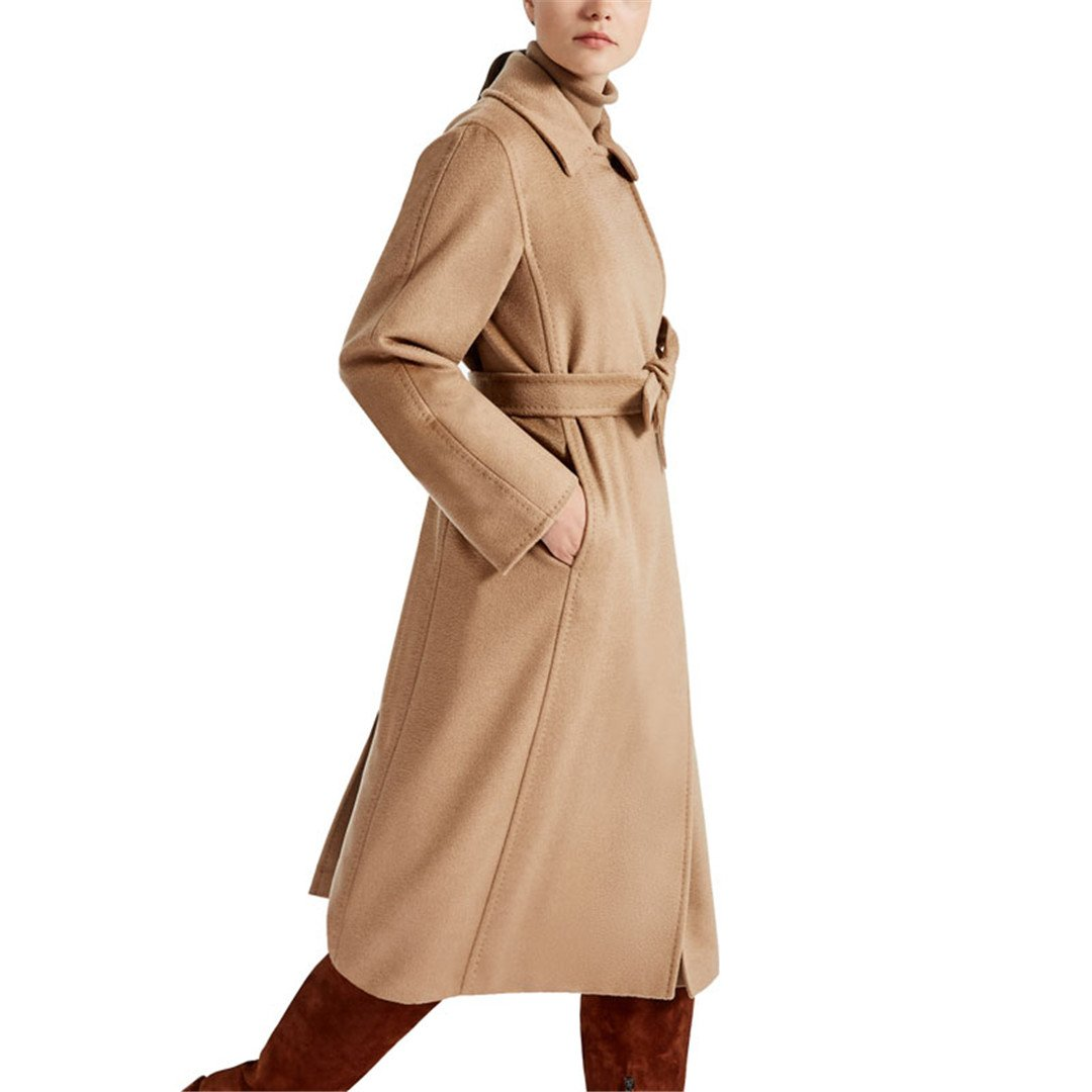 2017 New Female Pure Hand Cashmere Overcoat in Autumn and Winter