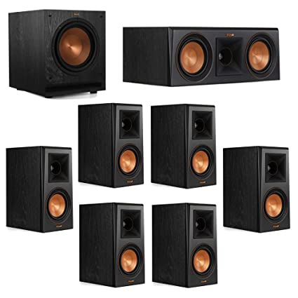 Klipsch 71 System With 2 RP 500M Bookshelf Speakers 1 500C