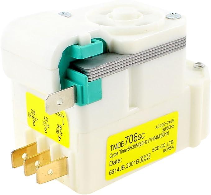 AC 220/240V TMDE706SC 4 Pernos Frigorífico Temporizador Para Descongelar: Amazon.es: Grandes electrodomésticos