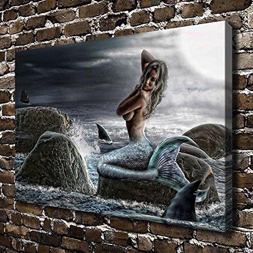 Mermaid Under The Moonlight Art 16 Quot X24 Quot Beachfront Decor