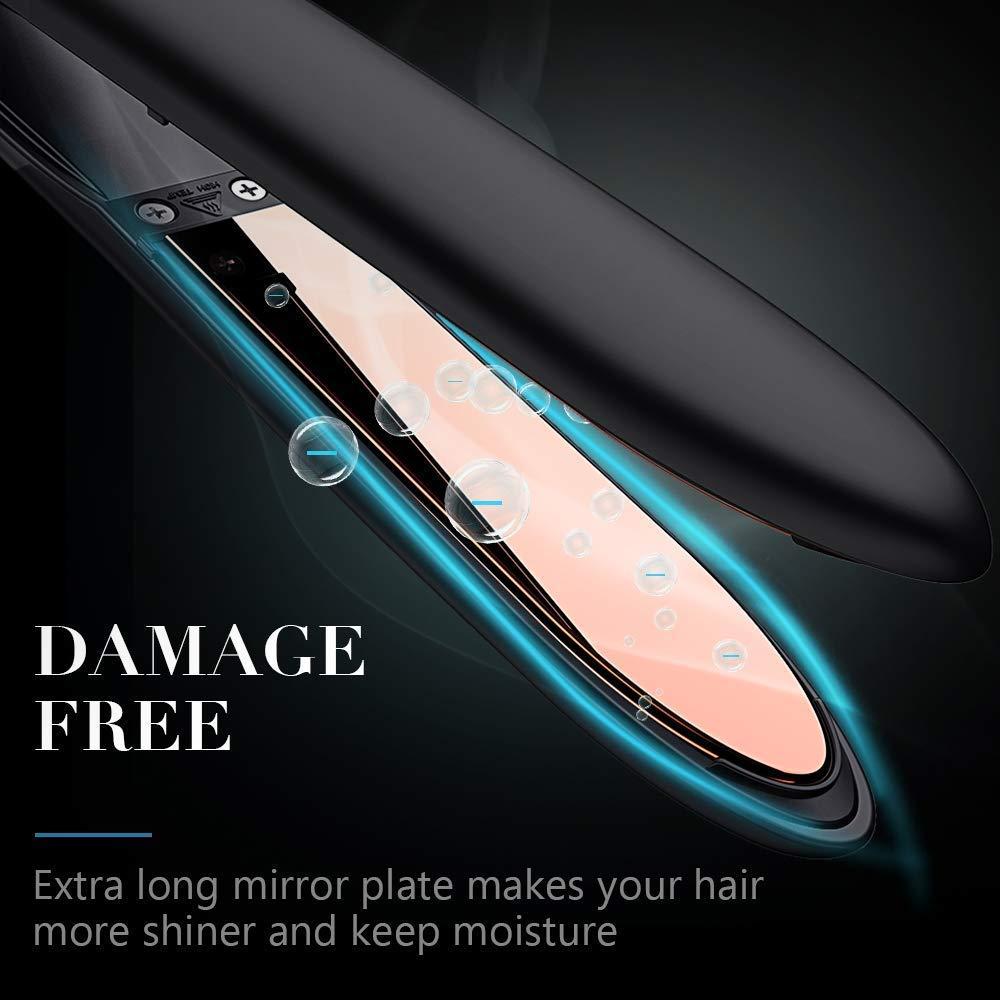 Amazon.com: Plancha de pelo profesional de titanio, plancha ...