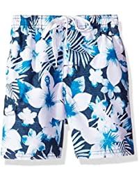Boys' Dominica Floral Quick Dry Beach Board Shorts Swim Trunk