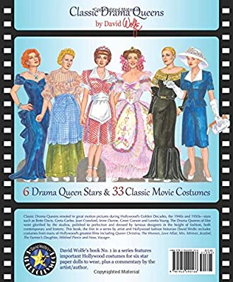 Classic Drama Queens David Wolfe S History Of Hollywood Fashions Commentary Costumes And Paper Dolls By David Wolfe Paper Dolls Amazon Ae