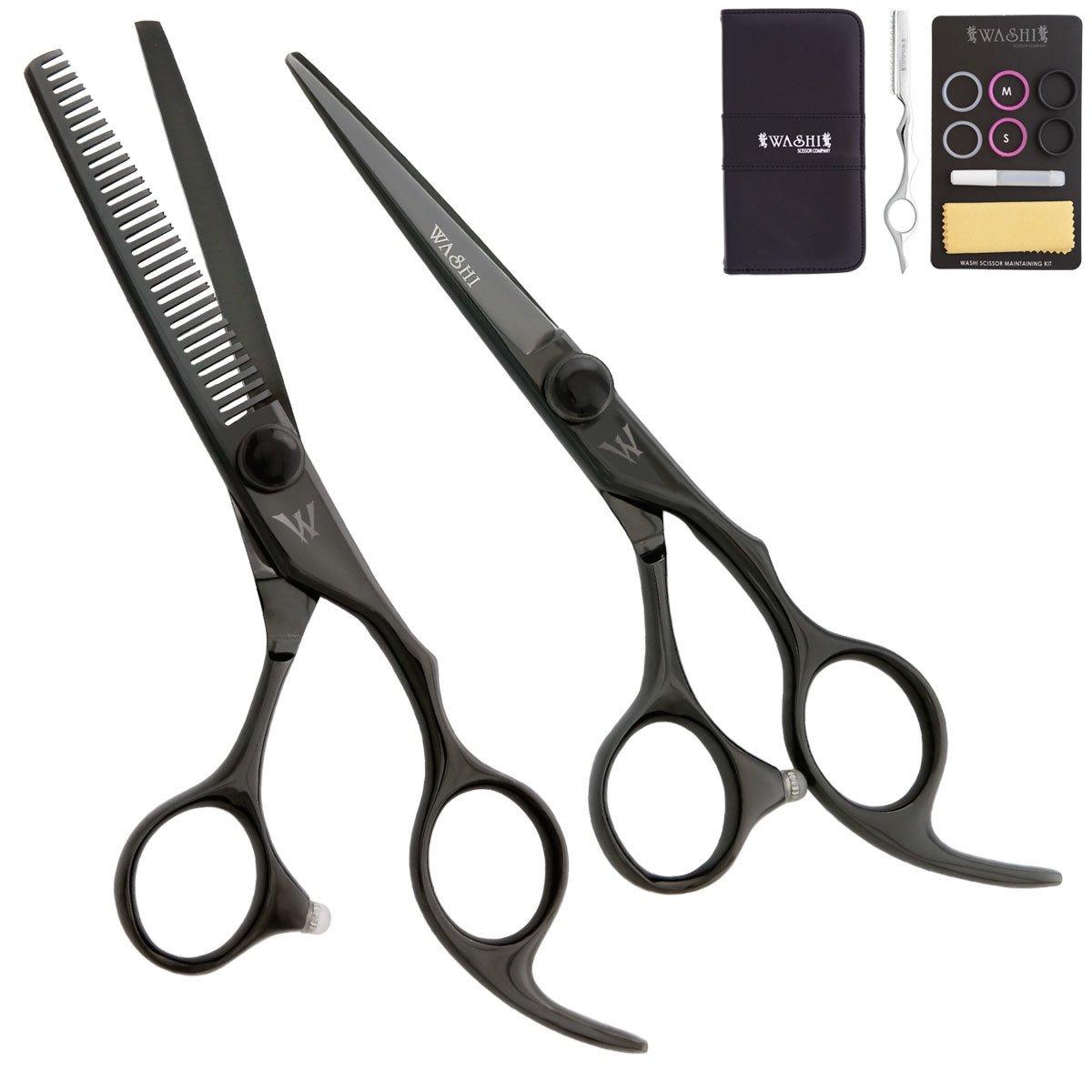 Washi shear thinner Black Dragon Set with free scissor brooch 5.5 inch to 7.0 inch