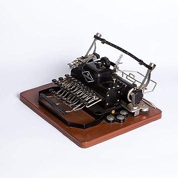 MAFYU Regali di festa Apoyos de hierro vintage para hacer fotografía de modelo de máquina de escribir antigua fotos bar ornamentos decorativos 30 * 26 * 14 ...