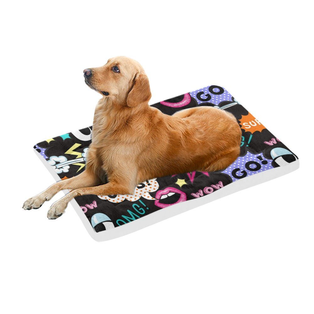 42\ your-fantasia Pop Art WOW OOPS OMG Pet Bed Dog Bed Pet Pad 42 x 26 inches