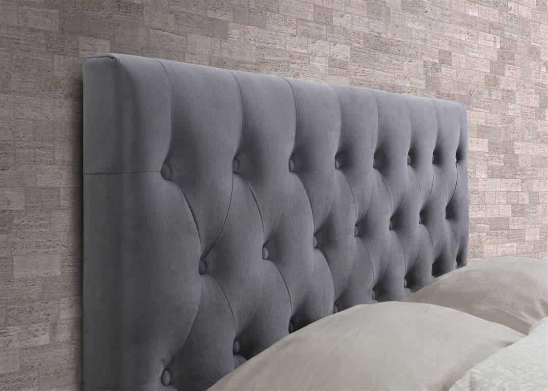 Colonia tapizado cabecero para cama de matrimonio 150 cm 5 ft gris tejido tamaño King: Amazon.es: Hogar