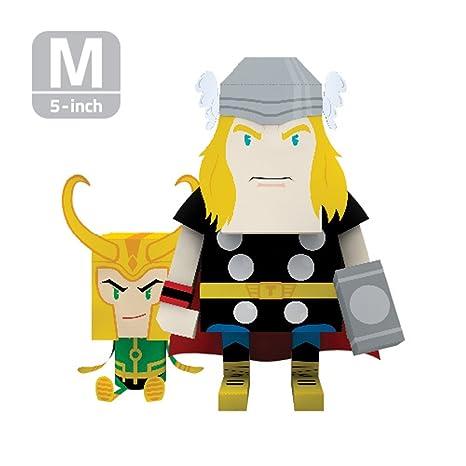 amazon com momot paper craft toy marvel thor 5 inch m size 13cm