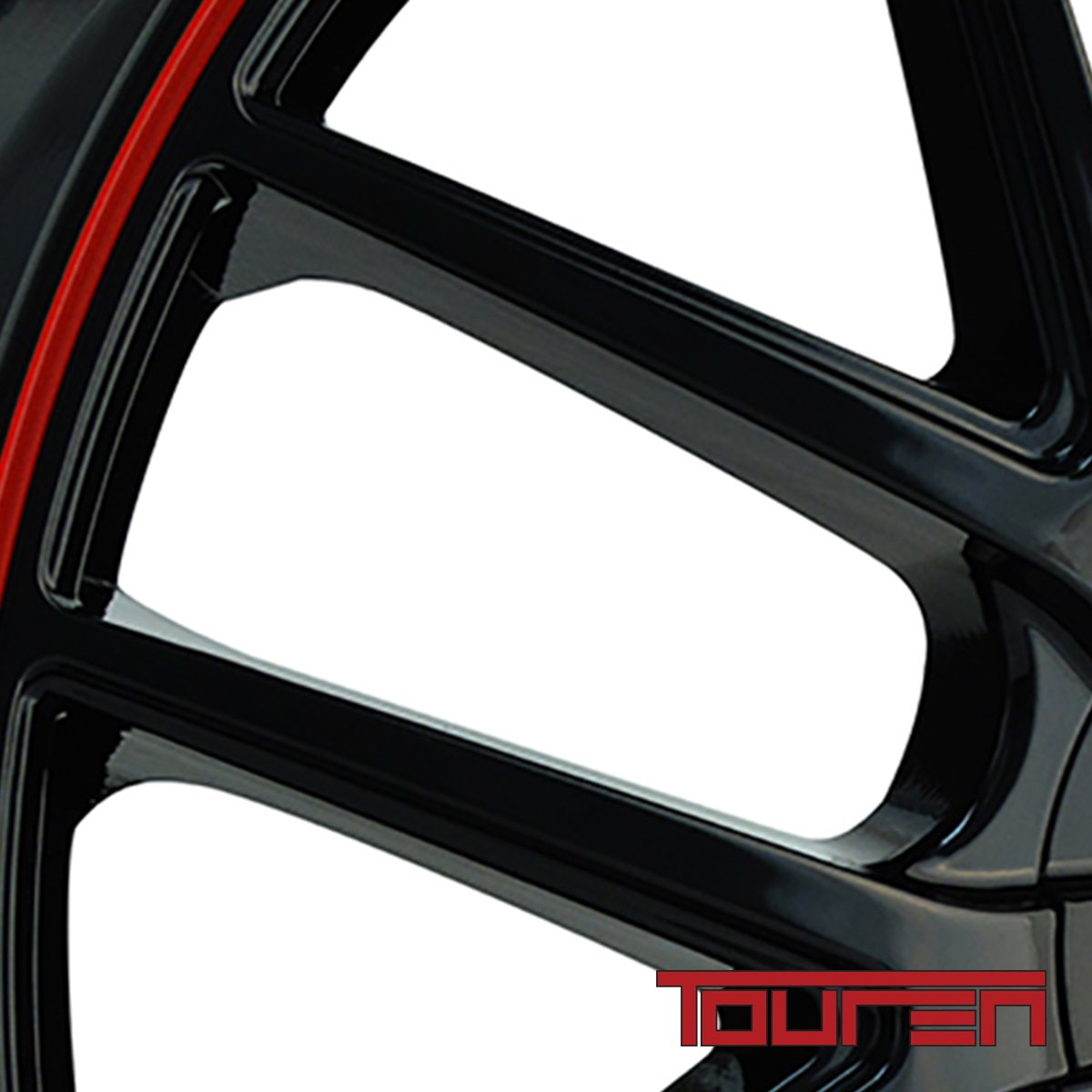 16x7//5x100mm Touren TR60 3260 Wheel with Black Finish with Red Ring
