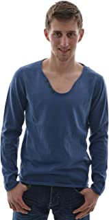Tom Tailor acid washed serafino/503, Maglione da uomo, blu (blau), S