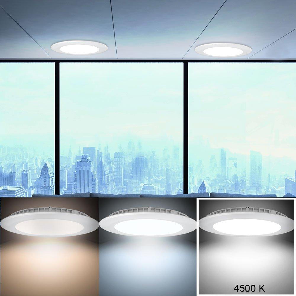 2er Set LED Panel Strahler ALU Wand Decken Einbau Lampen wei/ß Wohn Raum Beleuchtung V-TAC 4828