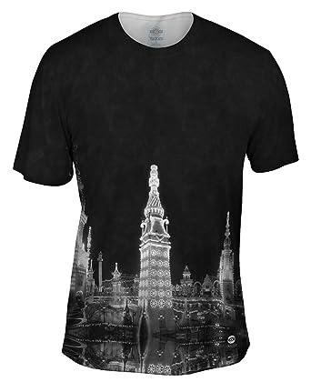 7bae2a8af Yizzam- Luna Park at Night Coney Island New York 1905 -Tshirt- Mens Shirt