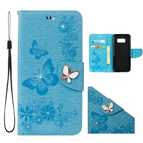 Galaxy S8 Case,EVATECH Embossed Flip Wallet Cas...