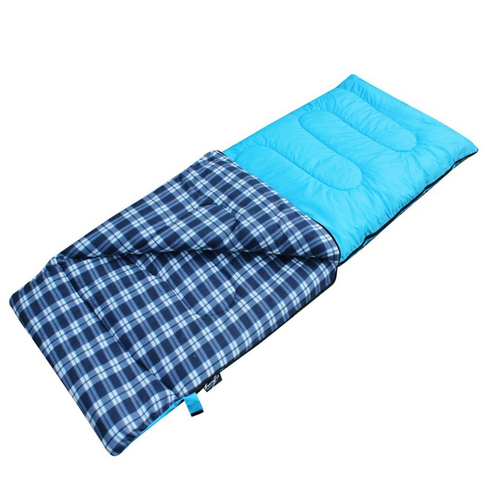 blueee Suede Sleeping Bag Adults Indoor Outdoor Autumn Winter Office Thick Keep Warm Eider Cotton Individual Anti Dirty