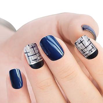 Doreliss uñas postizas 30 Pcs Consejos corto uñas falsas de ...